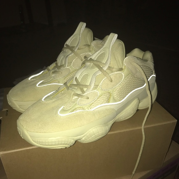 the best attitude 3b8a2 a1138 Adidas Yeezy 500 Supermoon Yellow Size 11 and 11.5 Boutique